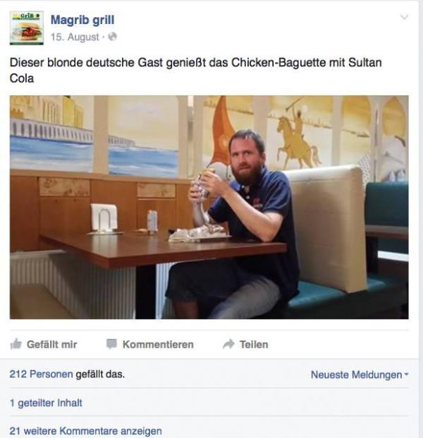Marcel Krass im Magrib Grill 150925