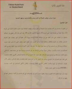Fatwa Ausschuss DITIB 160412