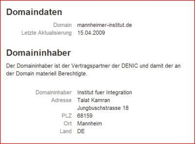 Mannheimer Institut Denic 160306