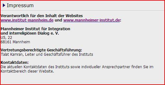 Mannheimer Institut Impressum 160306