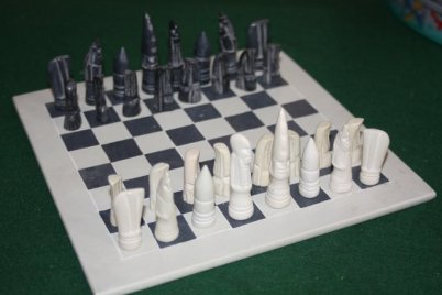 Schach 160531 Soapstone Chess Set
