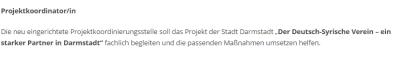 DSV DA Projektkoordinatorin 160721