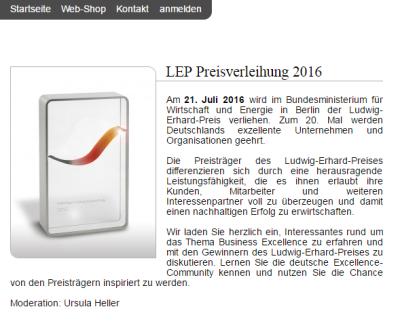 IRD Preis LEP 2016