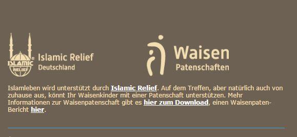 Islam leben Unterstützung Islamic Relief 160821